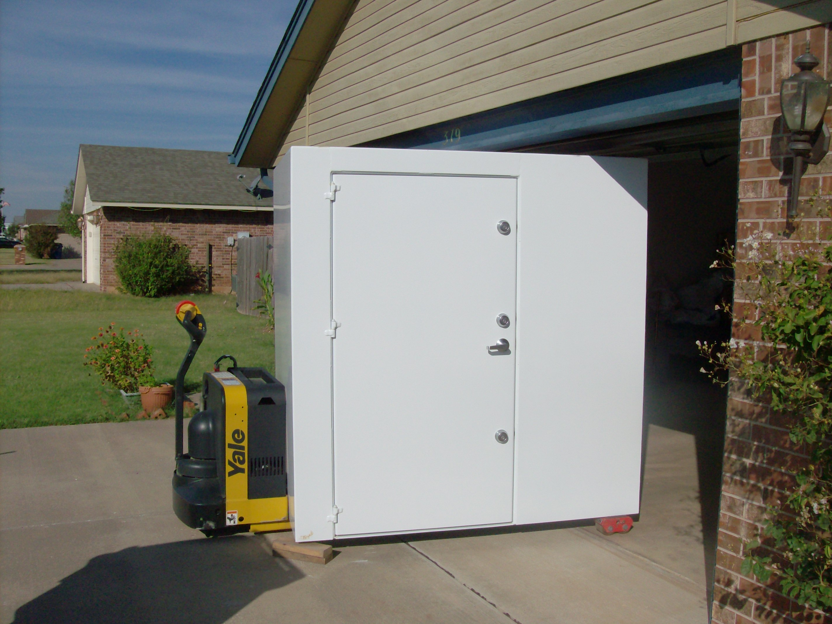 Underground garage shelters prices start at 2400 for Garage safe room