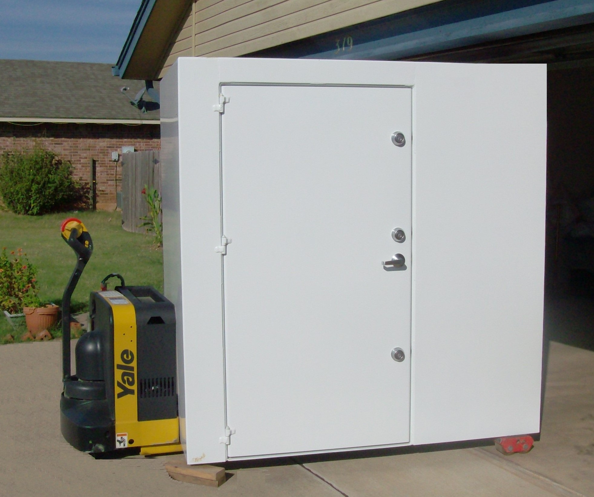 Oklahoma shelters prices start at 2400 financing at for Garage safe room